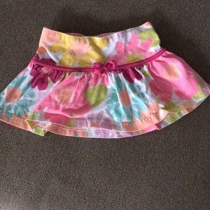 Toddler 18M floral flower skirt